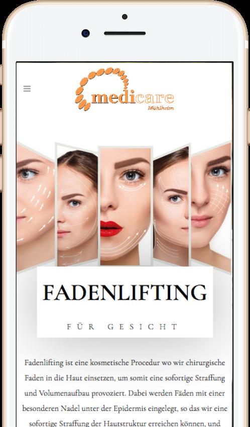 Webdesign für Beauty und Praxen. Webdesign Mainwebsite